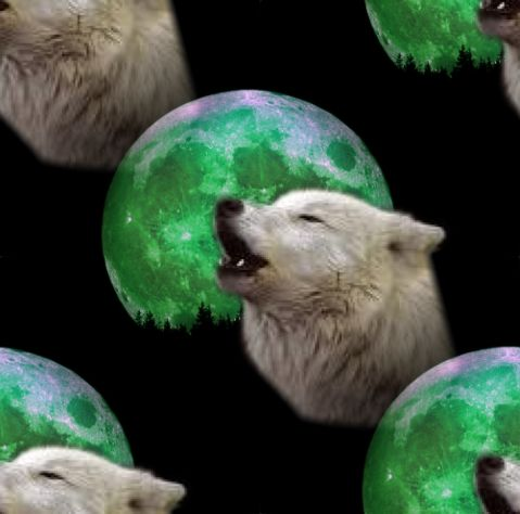 Wolf Moon Background Seamless Repeating Tile